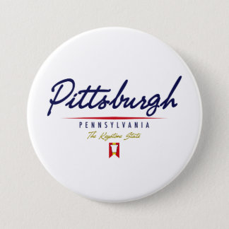 Pittsburgh Script 7.5 Cm Round Badge