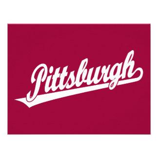 Pittsburgh script logo in white invites
