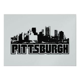 Pittsburgh Skyline 13 Cm X 18 Cm Invitation Card