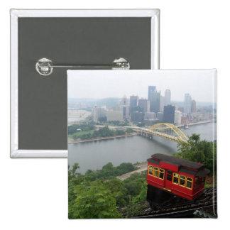 Pittsburgh Skyline 15 Cm Square Badge