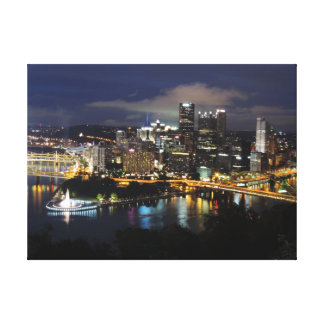 Pittsburgh Skyline at Dusk Canvas
