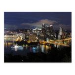 Pittsburgh Skyline at Dusk Postcard