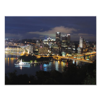 Pittsburgh Skyline at Dusk Print Photographic Print