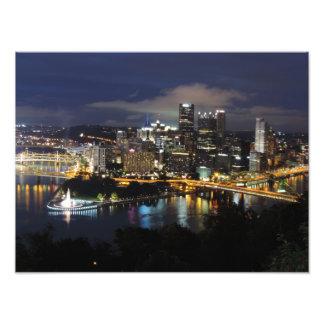 Pittsburgh Skyline at Dusk Print Photographic Print