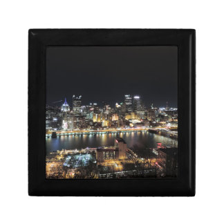 Pittsburgh Skyline at Night Gift Box