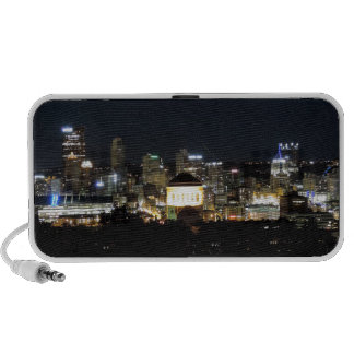 Pittsburgh Skyline at Night Laptop Speakers