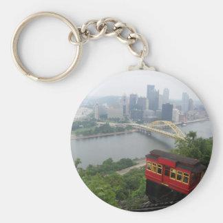 Pittsburgh Skyline Basic Round Button Key Ring