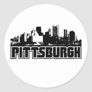 Pittsburgh Skyline Classic Round Sticker