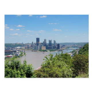 Pittsburgh Skyline from West End Overlook Postcard