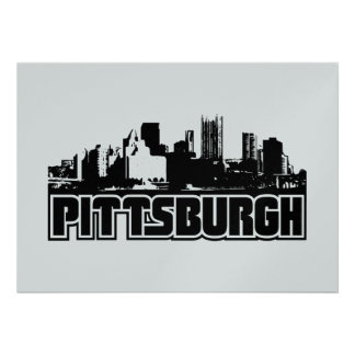 Pittsburgh Skyline Personalized Invites