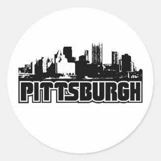 Pittsburgh Skyline Round Sticker