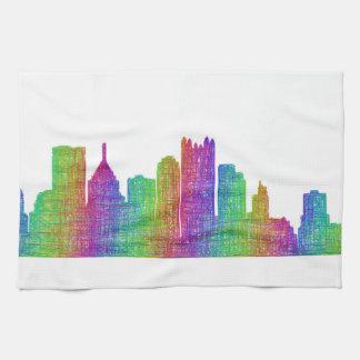 Pittsburgh skyline tea towel