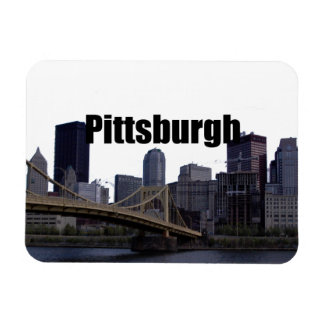 Pittsburgh Skyline w Pittsburgh in the Sky Magnet