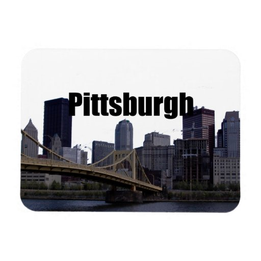 Pittsburgh Skyline w/ Pittsburgh in the Sky Magnet