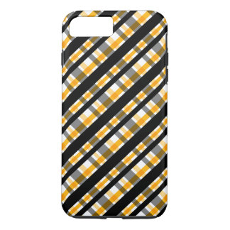 Pittsburgh Sports Fan Black Yellow Gold Plaid iPhone 8 Plus/7 Plus Case