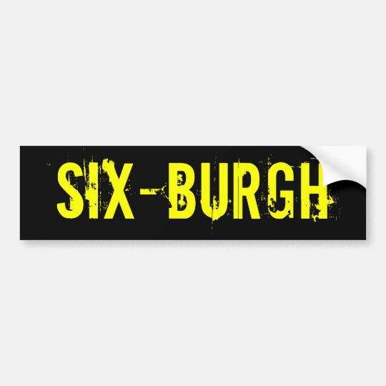 Pittsburgh Steelers SixBurgh Bumper Sticker