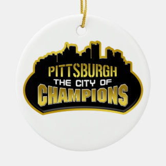 Pittsburgh The City Of Champions Christmas Ornament