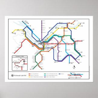 Pittsburgh Transit Map Poster
