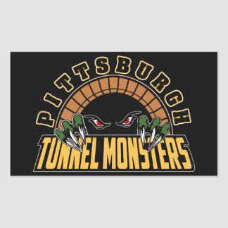 Pittsburgh Tunnel Monsters Rectangular Sticker