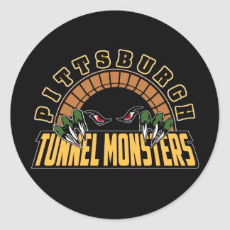 Pittsburgh Tunnel Monsters Round Sticker