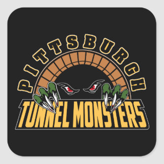 Pittsburgh Tunnel Monsters Square Sticker