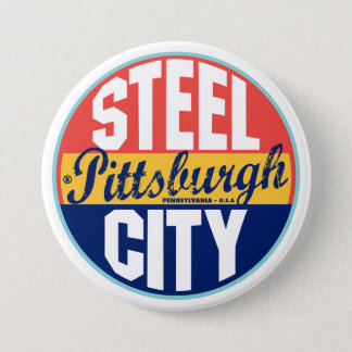 Pittsburgh Vintage Label 7.5 Cm Round Badge