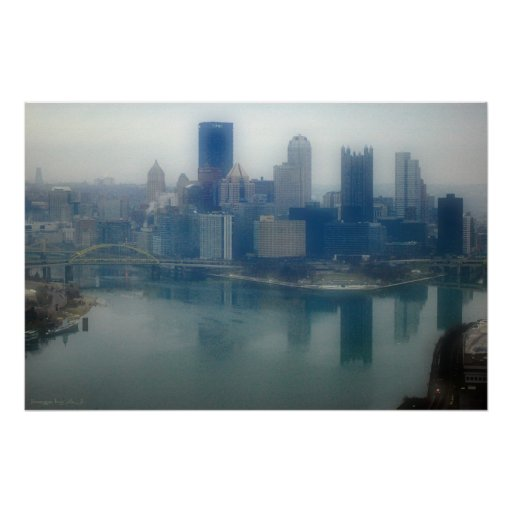 Pittsburgh Winter Mist Posters