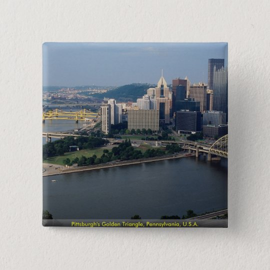 Pittsburgh's Golden Triangle, Pennsylvania, U.S.A. 15 Cm Square Badge