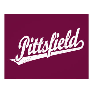 Pittsfield script logo in white distressed 21.5 cm x 28 cm flyer