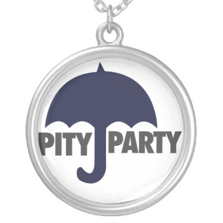 Pity Party Round Pendant Necklace
