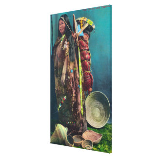Piuta Native Mother and Child in a Papoose Canvas Print