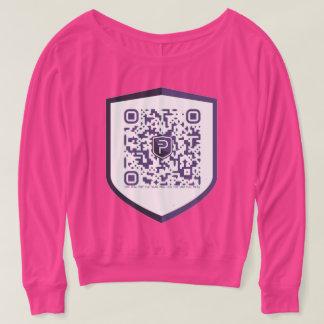 PIVX QR-Clothes Custom DIY Pink Shoulder Shirt