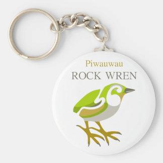 PIWAUWAU , New Zealand Bird, Rock Wren Key Ring
