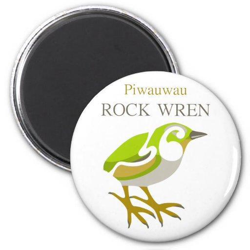 PIWAUWAU , New Zealand Bird, Rock Wren Magnet