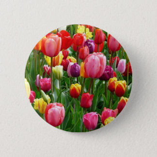pixabay.comentulips-tulip-bed-colorful-color-52126 6 cm round badge