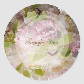 PixDezine bridal bouquet/DIY background color Round Stickers