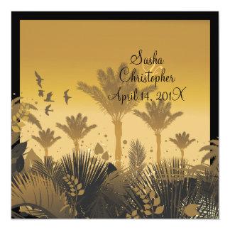 PixDezine Sunset Palms Custom Invites
