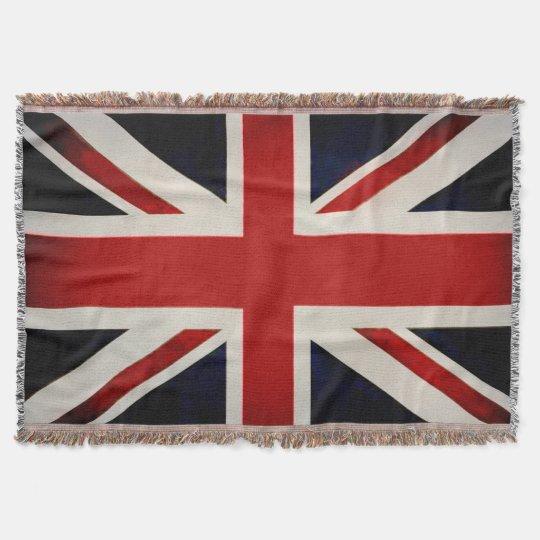 PixDezine Union Jack/Vintage Colour Throw Blanket