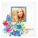PixDezines 2011 Graduation/floral grunge/diy Personalized Announcement
