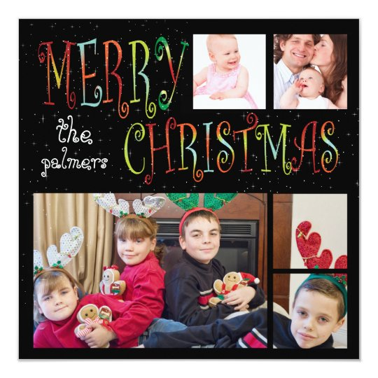 PixDezines 5-photo template holiday card
