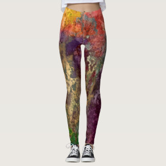 PixDezines Abstract Galaxy / Cosmic Energy Leggings