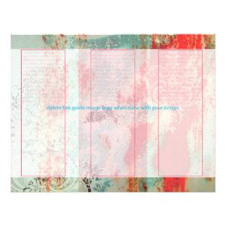 PixDezines Abstract/rusted door+damask 21.5 Cm X 28 Cm Flyer