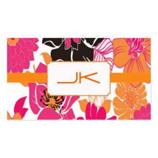 PixDezines Alegre Retro Floral Design Pack Of Standard Business Cards