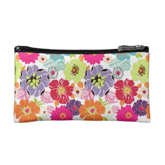 PixDezines Alegre Retro Floral, DIY background Cosmetic Bag