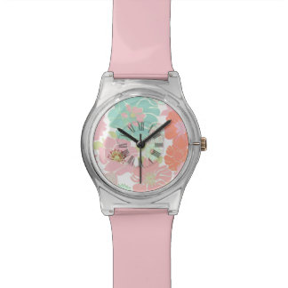 PixDezines alegre, retro floral/pastel Watch