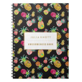 PixDezines Aloh Pineapples/DIY background Notebook