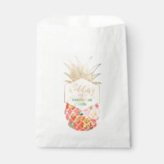 PixDezines Aloha Hawaiian Pineapple Favour Bags