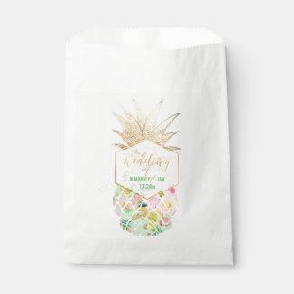 PixDezines Aloha Hawaiian Pineapple/Mint Green Favour Bags