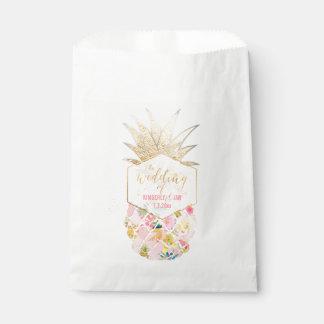 PixDezines Aloha Hawaiian Pineapple/Pink Favour Bags