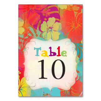 PixDezines Aloha Hibiscus/Wood Panels/Table Cards Table Card